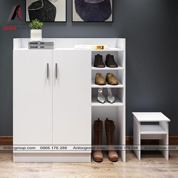 Mẫu 29 - Tủ giày màu trắng đẹp