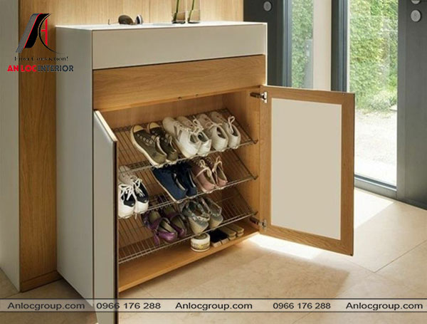 Mẫu 20 - Tủ đựng giày gỗ công nghiệp
