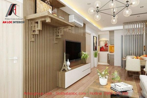 Mẫu bàn thờ treo tường cùng hoa văn ấn tượng, được làm từ gỗ tự nhiên có độ bền lâu với thời gian