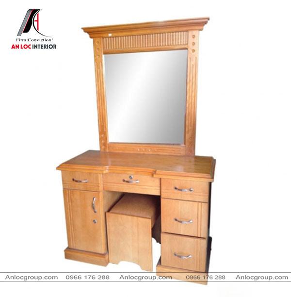 Mẫu 7 - Bàn trang điểm gỗ Xoan Đào nhiều ngăn kéo