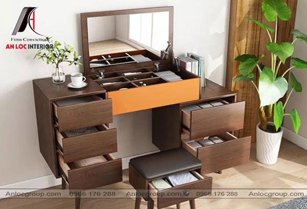 Mẫu 40 - Bàn trang điểm thông minh kết hợp bàn làm việc