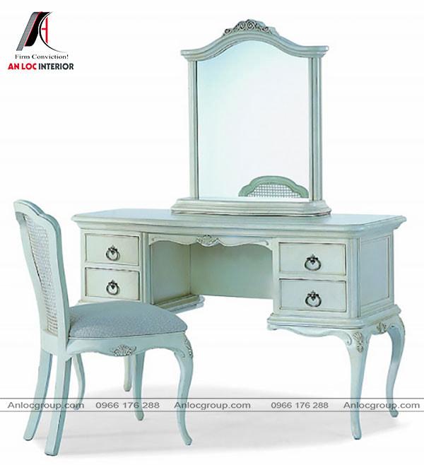 Mẫu 32 - Bàn ghế trang điểm màu xanh ngọc bích