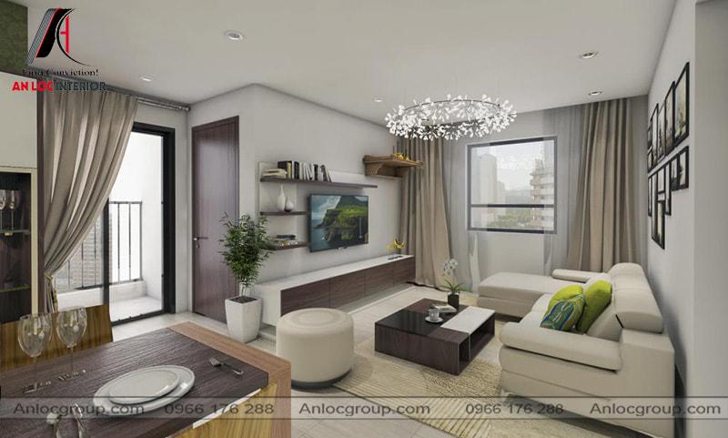Mẫu 14 - Thiết kế nội thất phòng khách chung cư đẹp hiện đại