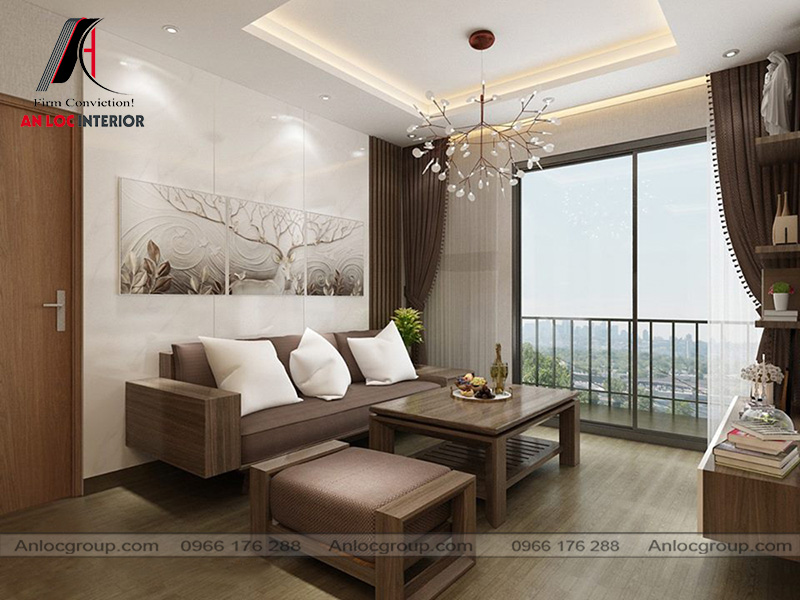 Mẫu 19 - Phòng khách chung cư hiện đại đơn giản