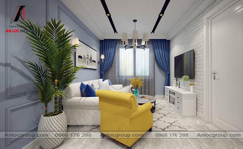 Mẫu 30 - Thiết kế nội thất phòng khách chung cư tân cổ điển đẹp