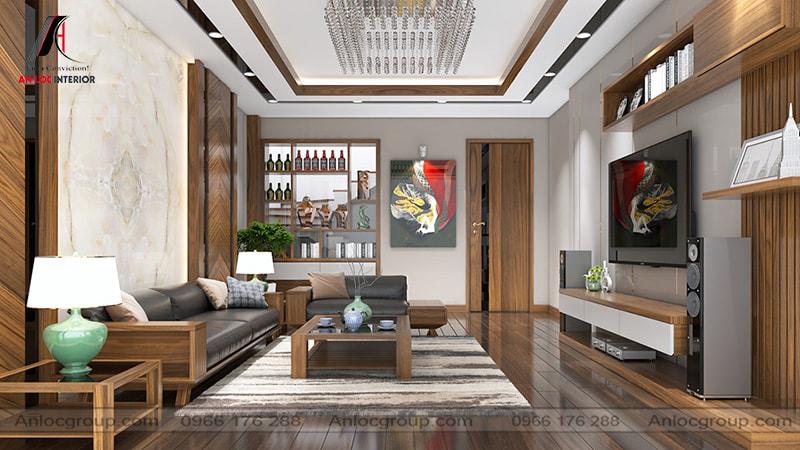 Mẫu 11 - Phòng khách chung cư đẹp