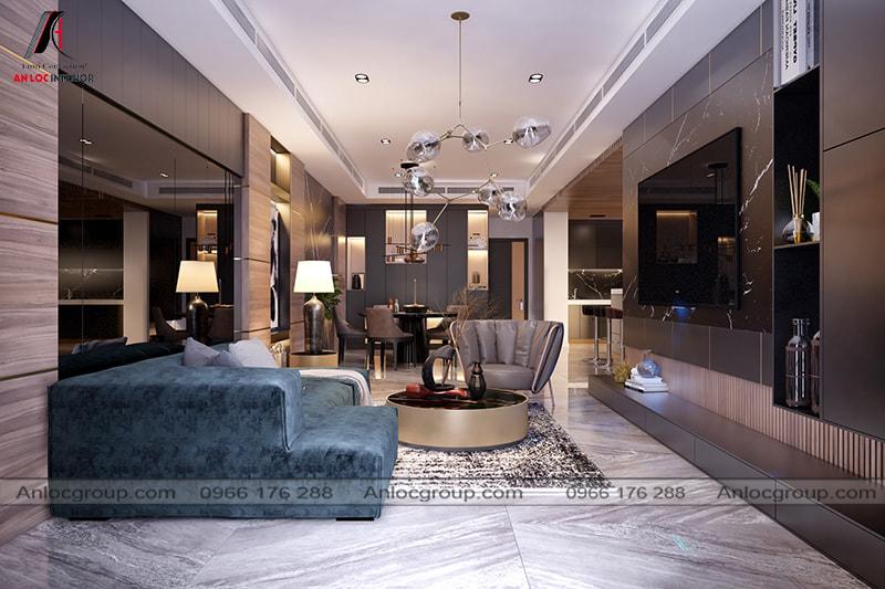 Mẫu 2 - Nội thất phòng khách chung cư hiện đại