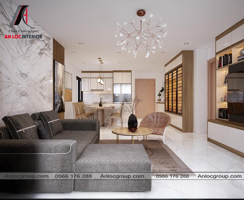 Mẫu 4 - Trang trí phòng khách chung cư