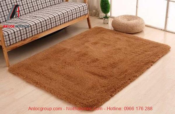 Mẫu thảm trải sàn màu cam đất thích hợp với những gia chủ mệnh Thổ