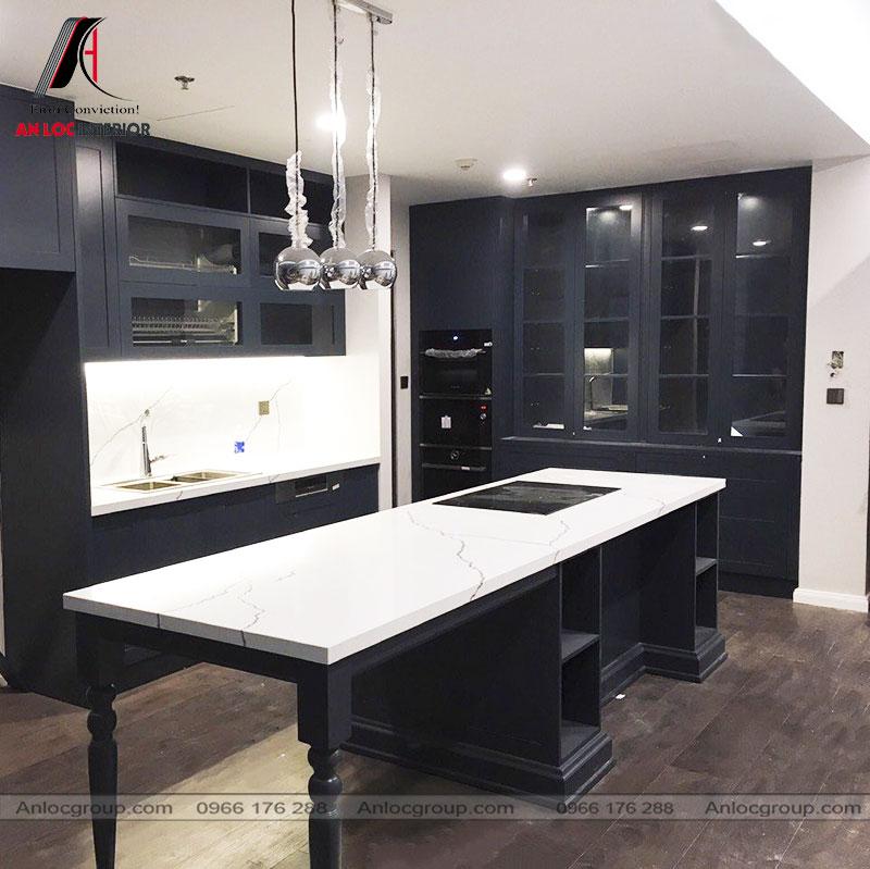 Thi công phòng bếp tại Vinhomes Skylake