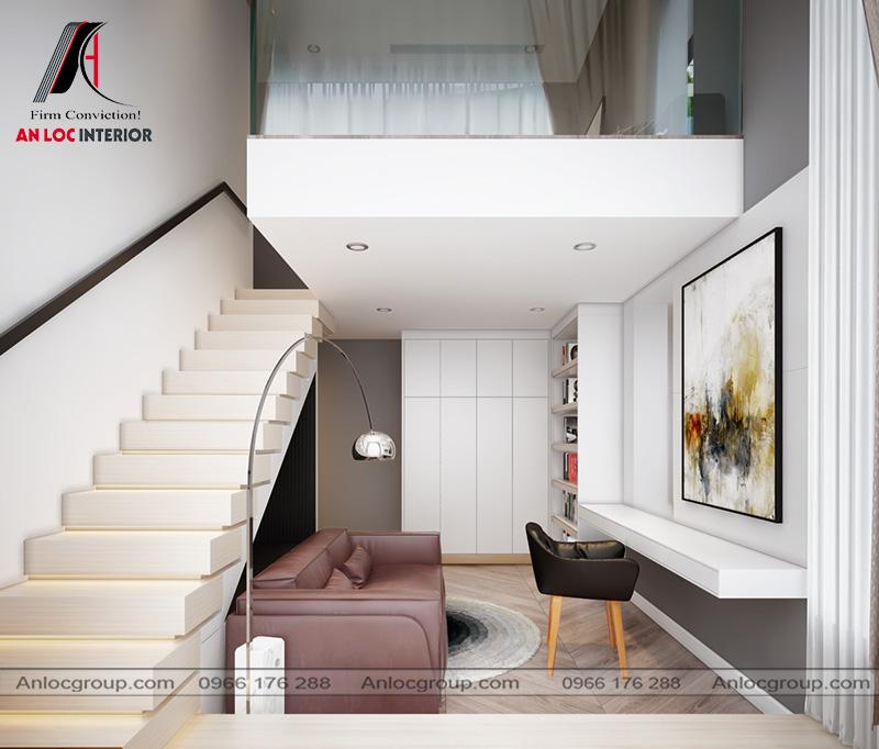 Thiết kế căn Duplex tại The View Riviera Point - Phòng ngủ nhỏ 1