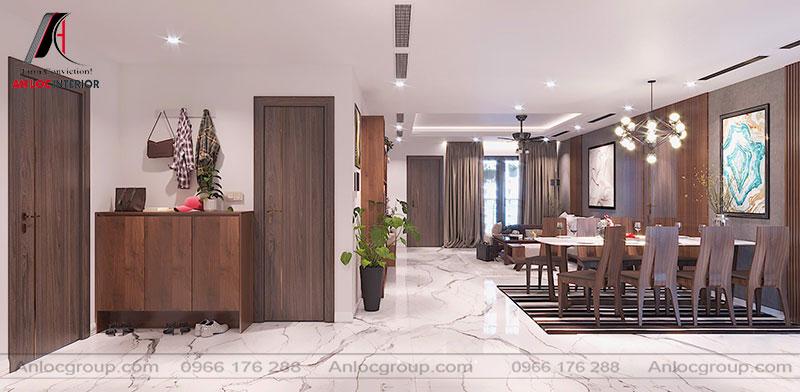 Thiết kế nội thất chung cư cao cấp 154m2 tại Grandeur Palace