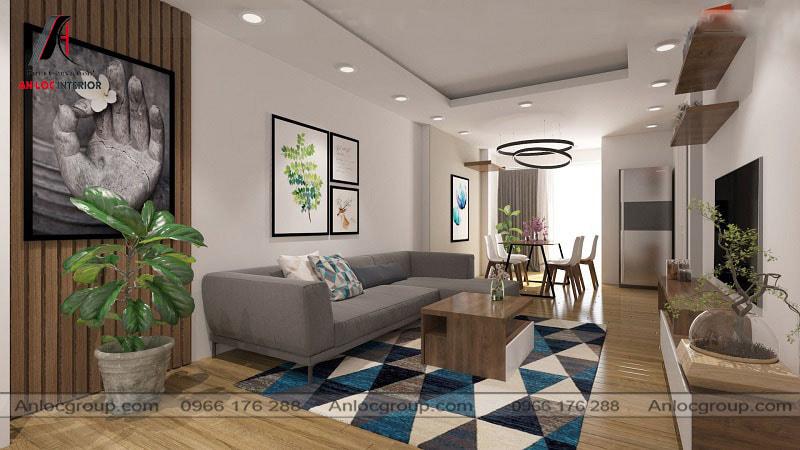 Mẫu 38 - Phòng khách chung cư nhỏ có thiết kế đơn giản