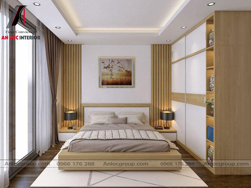 Mẫu 28 - Thiết kế nội thất phòng ngủ gỗ công nghiệp