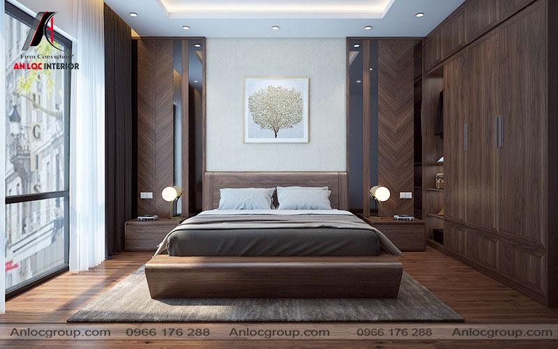 Mẫu 19 - Trang trí phòng ngủ hiện đại đẹp với gỗ tự nhiên