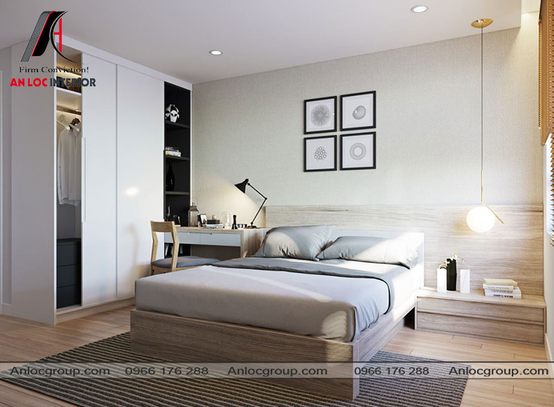 Mẫu 22 - Nội thất phòng ngủ nhỏ hiện đại
