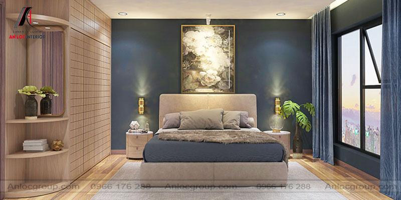 Mẫu 24 - Nội thất phòng ngủ đẹp sử dụng màu sắc hài hòa