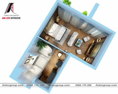 Thiết kế nội thất phòng ngủ phong cách gỗ Việt