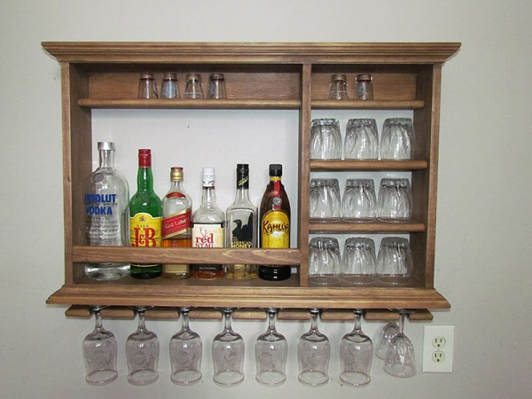 Tủ mini treo tường đựng rượu
