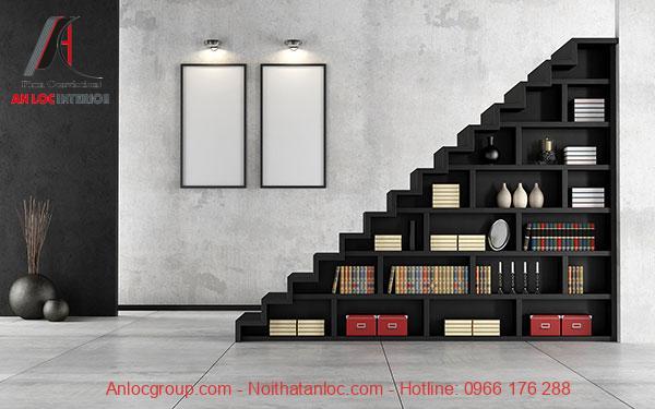 Mẫu 14 - Tủ sách gầm cầu thang đẹp