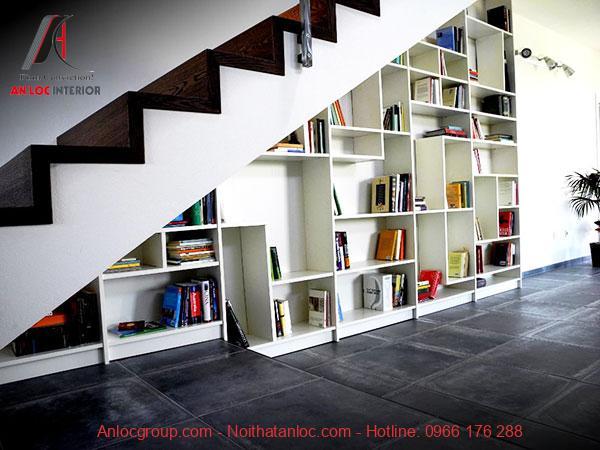 Mẫu 15 - Giá sách đẹp dưới gầm cầu thang