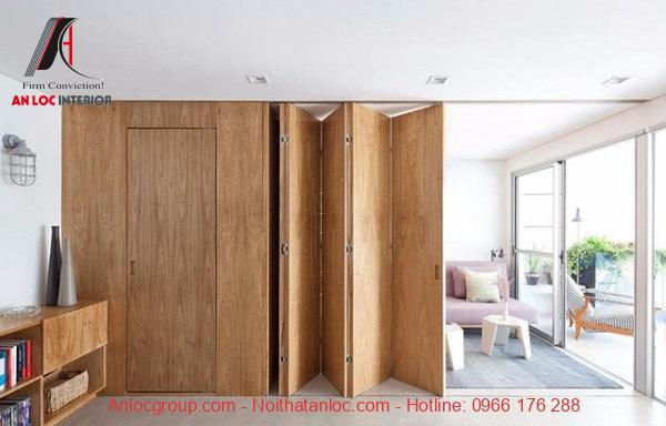Mẫu vách ngăn cửa phòng khách đầy sáng tạo