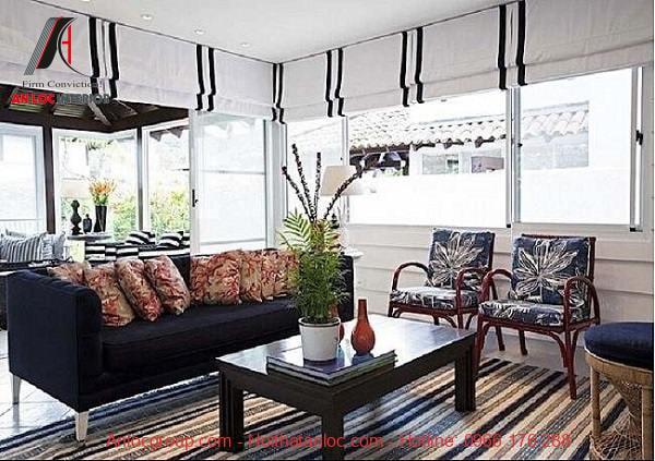 Rèm ngăn phòng khách và bếp cho những thiết kế căn hộ mở