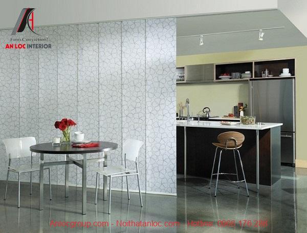 Bộ rèm lá dọc thanh lịch khi phối màu hài hòa cũng nội thất nhà ở