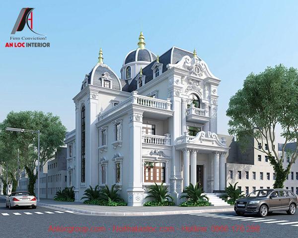Mái nhà hình trụ được xây dựng theo mô hình cung điện thời xưa mang đến không gian hiện đại