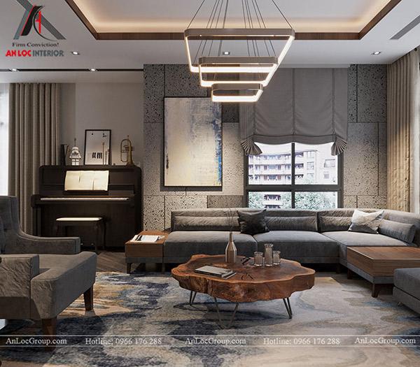 Không gian nội thất phòng khách của biệt thự