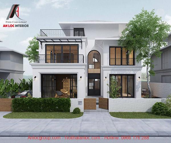 Thiết kế biệt thự 2 tầng 1 tum với môi hình mini mà vẫn phát huy hiệu quả thẩm mỹ