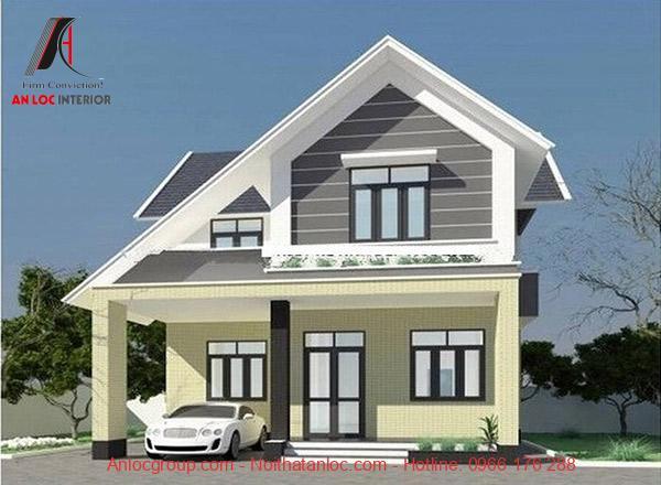 Trắng và màu trung tính là sắc màu ưu tiên trong thiết kế biệt thự mini đẹp