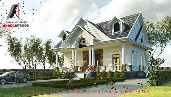 Biệt thự 1 tầng mái thái cũng là lựa chọn phổ biến thời gian gần đây