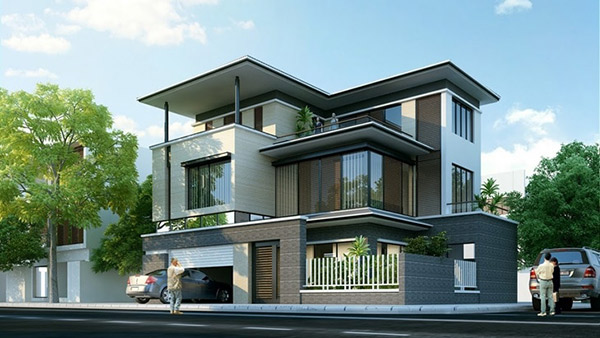 Biệt thự mini 3 tầng được xây dựng theo không gian mở mang đến vẻ đẹp cuốn hút