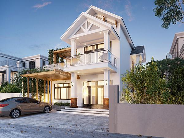 Hình ảnh 3D biệt thự Mini tại Thái Bình