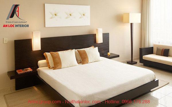 Giường và sàn laminate
