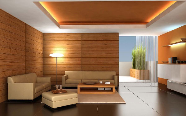Miếng dán laminate trang trí phòng khách