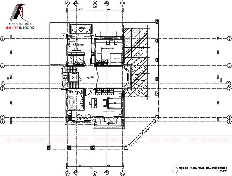 Mặt bằng bố trí công năng - Tầng 2