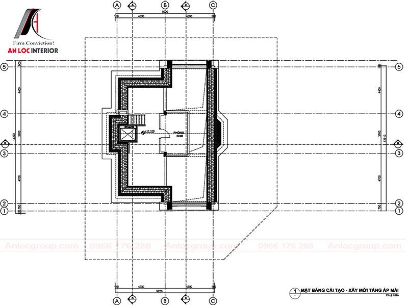 Mặt bằng bố trí công năng - Tầng 4