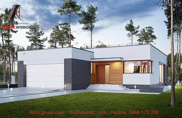 Nhà mái bằng được kết cấu hợp lý và phân chia không gian thích hợp