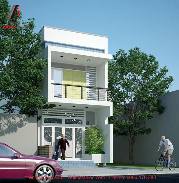 Kiến trúc 3D của căn nhà ống 2 tầng