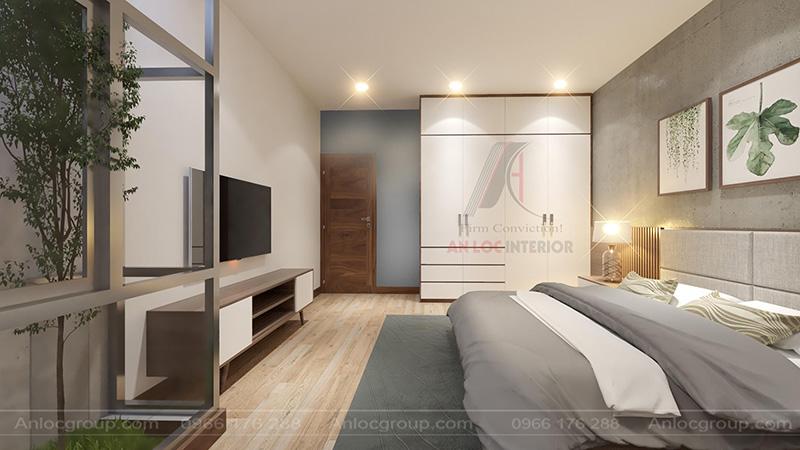 Nội thất phòng ngủ nhà cấp 4 tại Phú Thọ