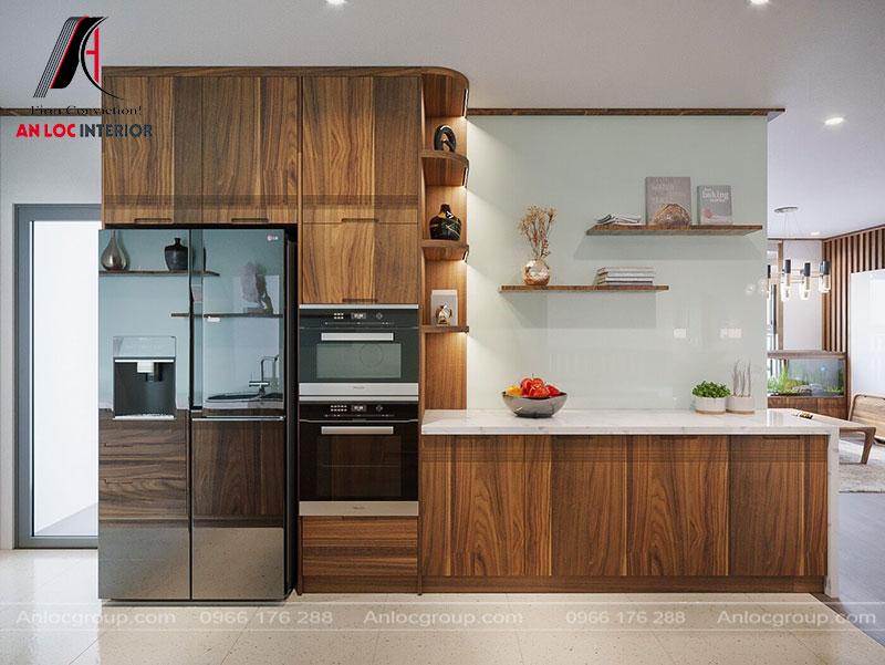 Phòng bếp gỗ Óc Chó