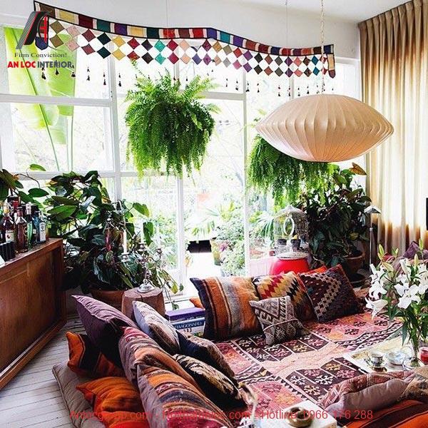 Chất liệu vải xuất hiện phổ biến trong mọi không gian nội thất