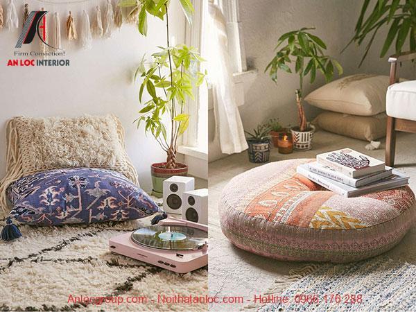 Sofa Bohemian được thiết kế nhỏ gọn, tinh tế đến từng chi tiết