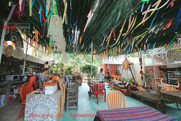 Không gian quán ăn theo phong cách Bohemian