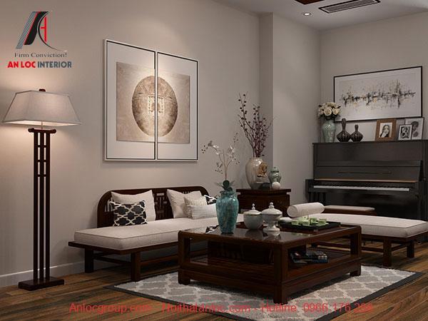 Họa tiết trang trí theo phong cách Indochine trong phòng khách