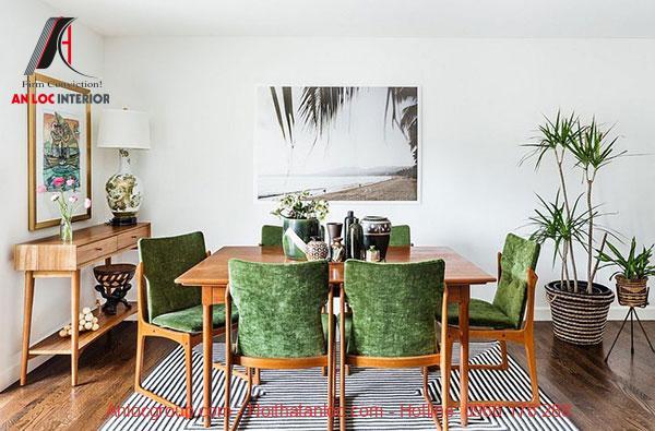Sắc xanh được xây dựng trong thiết bị nội thất