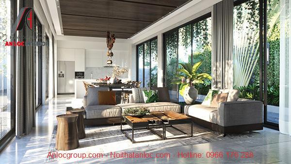 Phong cách Tropical với sắc xanh tự nhiên, tinh tế