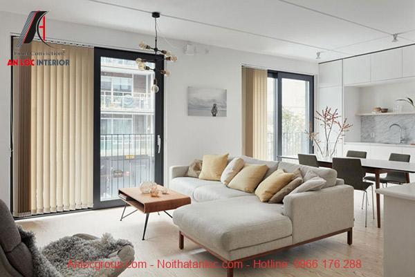 CHi tiết đơn giản kết hợp với sàn nhà được chiếu sáng tối đa